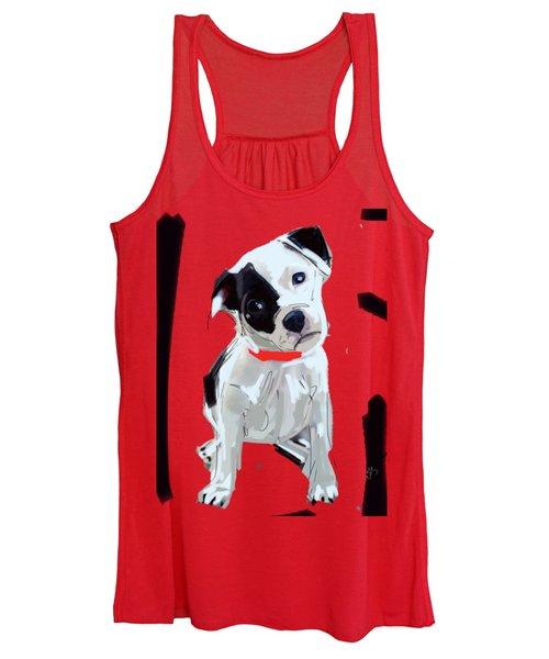 Dog Doggie Red Women's Tank Top