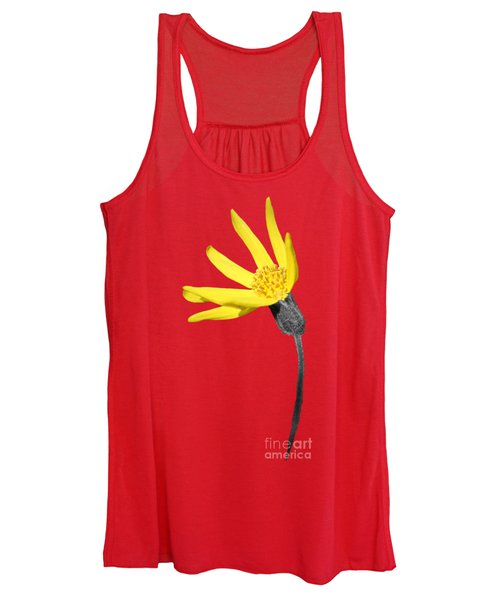 Women's Tank Top featuring the photograph Yellow Wildflower by Shane Bechler