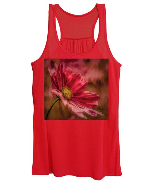 Aster Red Painterly #h1 Women's Tank Top