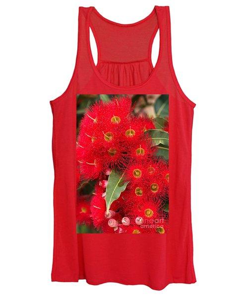Australian Red Eucalyptus Flowers Women's Tank Top