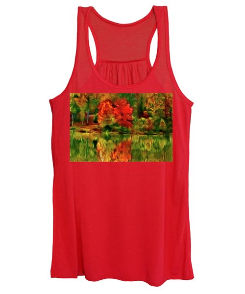 Autumn At The Lake-artistic Women's Tank Top