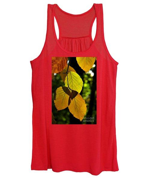 Autumn Beech Tree Leaves Women's Tank Top