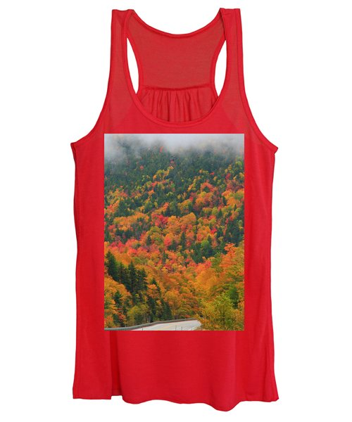 Autumn Clouds On Crawford Notch Road Women's Tank Top