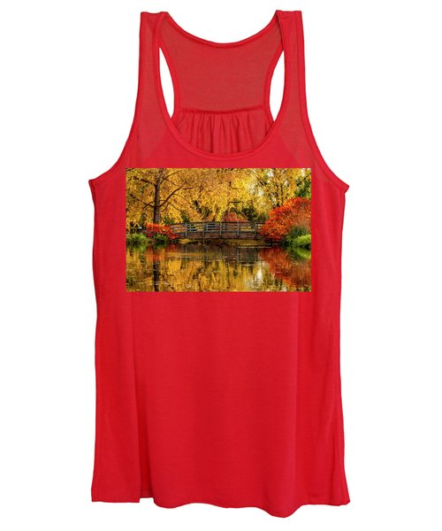 Autumn Color By The Pond Women's Tank Top