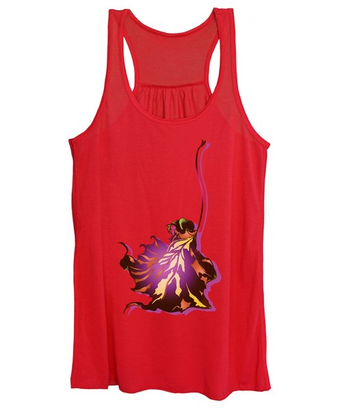 Autumn Sycamore Leaf Women's Tank Top