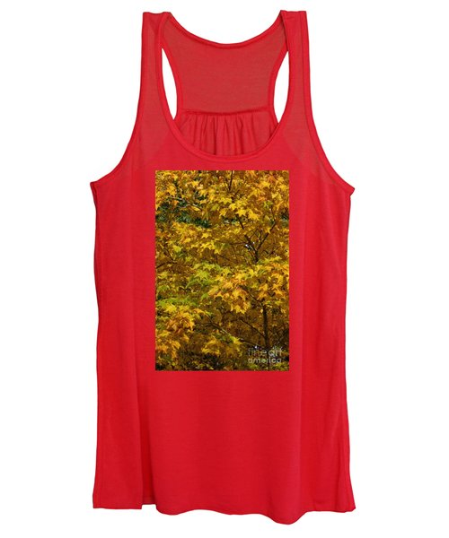 Autumnal Leaves And Trees 2 Women's Tank Top