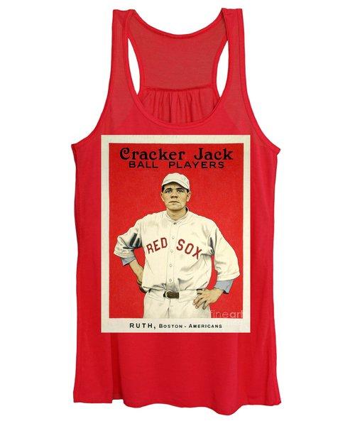 Babe Ruth Cracker Jack Card Women's Tank Top