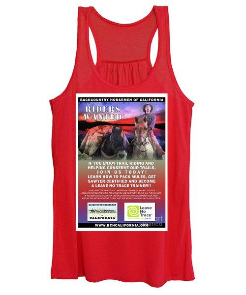 Backcountry Horsemen Join Us Poster II Women's Tank Top