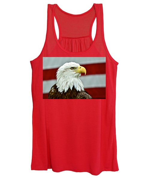 Bald Eagle And Old Glory Women's Tank Top