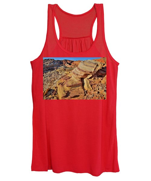 Bands Of Colorful Sandstone In Valley Of Fire Women's Tank Top