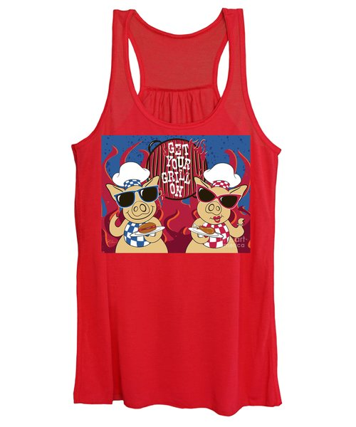 Barbecue Pigs Women's Tank Top