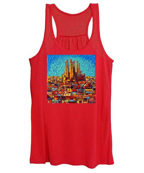Barcelona Abstract Cityscape - Sagrada Familia Women's Tank Top