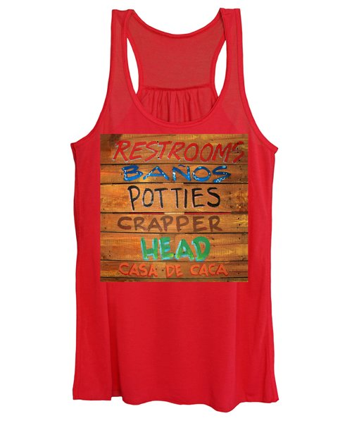 Bathroom Sign Squared Women's Tank Top