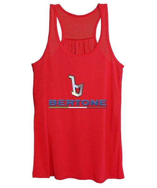 Bertone 3 D Badge On Red Women's Tank Top