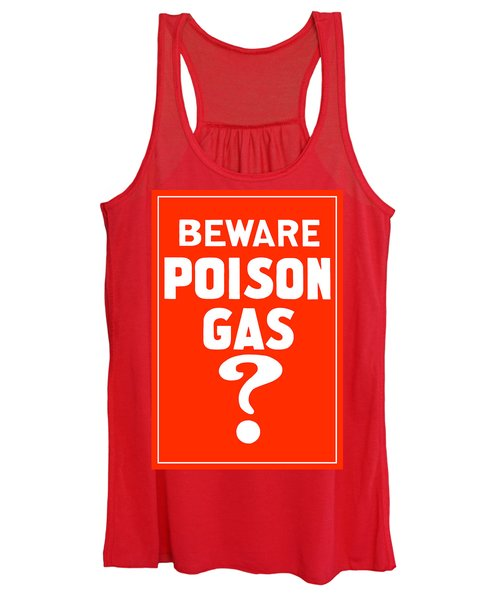 Beware Poison Gas - Wwi Sign Women's Tank Top