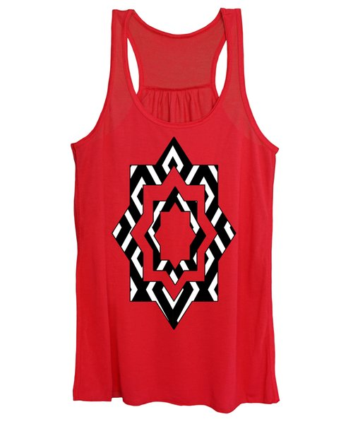 Black And White Pattern Women's Tank Top