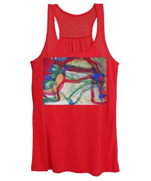 Blue On Red Women's Tank Top
