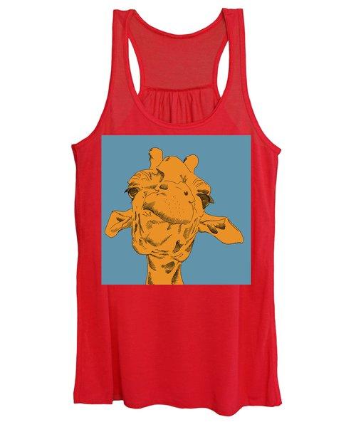 Blue Sky Giraffe  Women's Tank Top