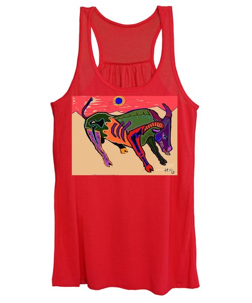 Blue Sun And Bull Women's Tank Top