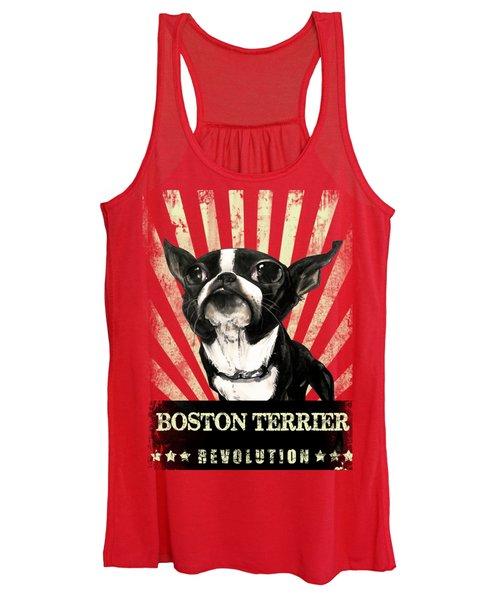 Boston Terrier Revolution Women's Tank Top
