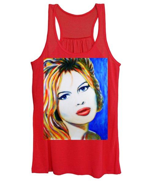 Brigitte Bardot Pop Art Portrait Women's Tank Top