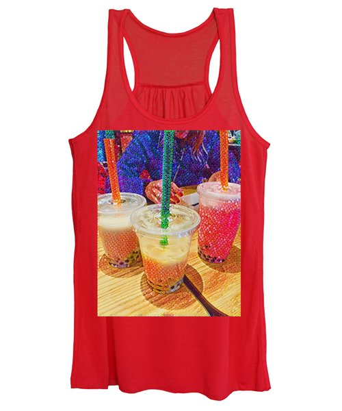 Bubble Tea For Three Women's Tank Top