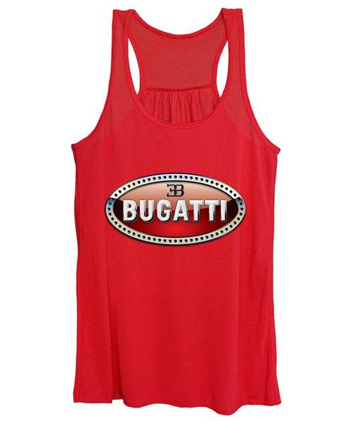 Bugatti - 3 D Badge On Red Women's Tank Top