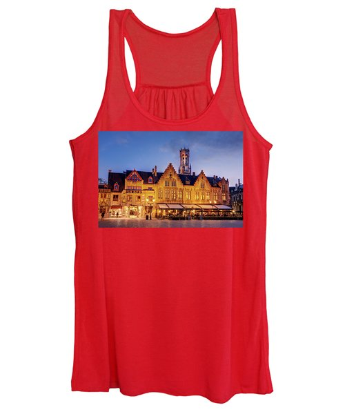 Burg Square Architecture At Night - Bruges Women's Tank Top