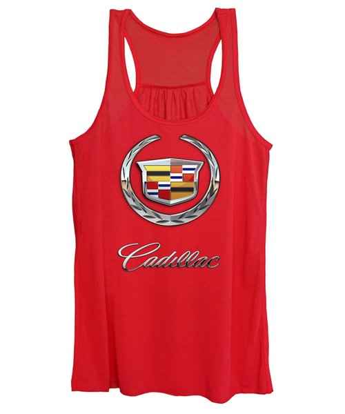 Cadillac - 3 D Badge On Red Women's Tank Top