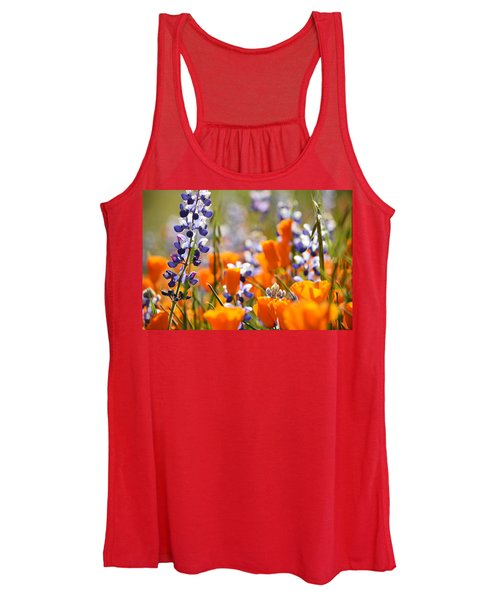 California Poppies And Lupine Women's Tank Top