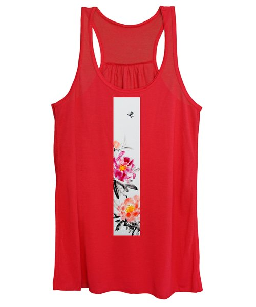 Camellia And Butterfly Women's Tank Top
