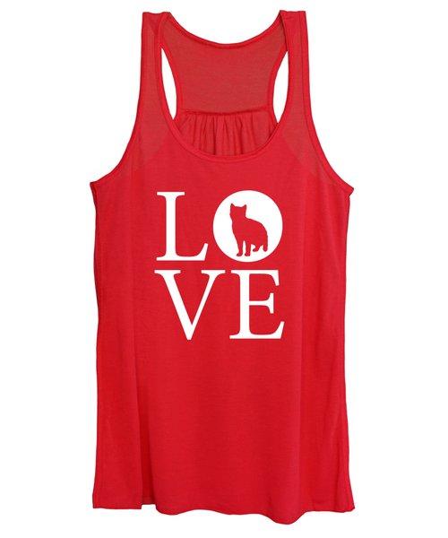 Cat Love Red Women's Tank Top