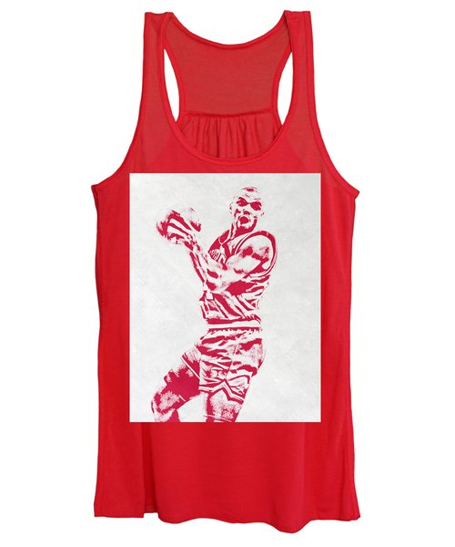 Charles Barkley Philadelphia Sixers Pixel Art Women's Tank Top
