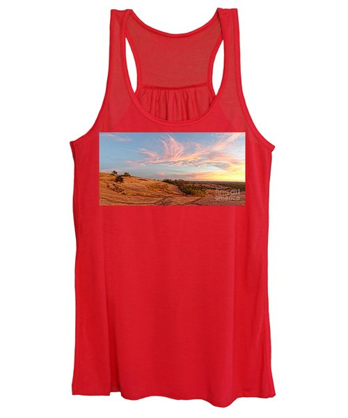 Chasing Angels Of Light Over Enchanted Rock - Fredericksburg Texas Hill Country Women's Tank Top