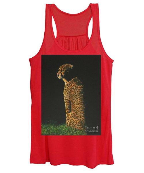 Cheetah At Sunset Women's Tank Top
