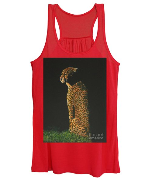 Cheetah At Sunset Women's Tank Top