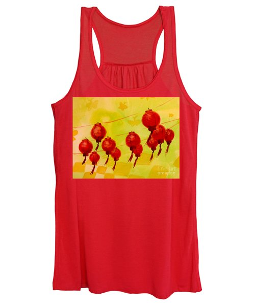 Chinese Lanterns Women's Tank Top