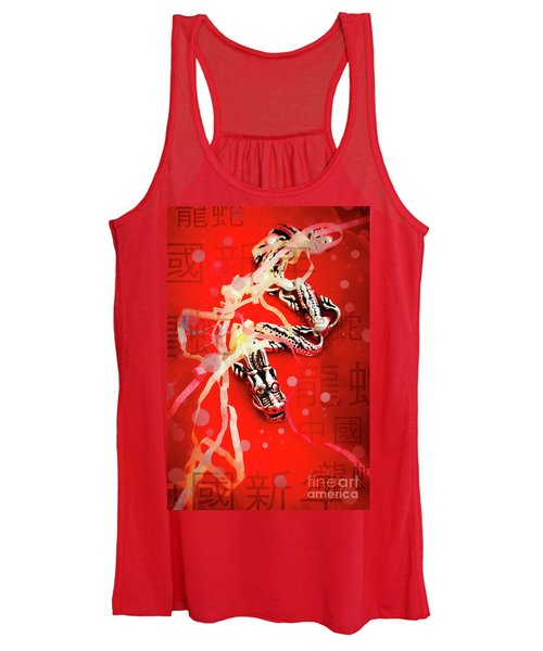 Chinese New Year Background Women's Tank Top