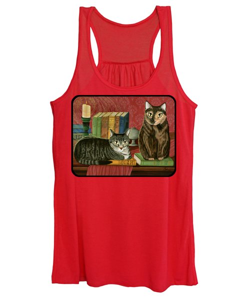 Classic Literary Cats Women's Tank Top
