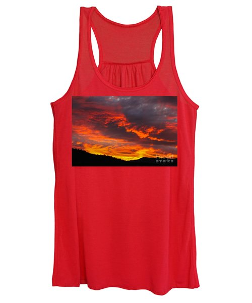 Clouds On Fire Women's Tank Top