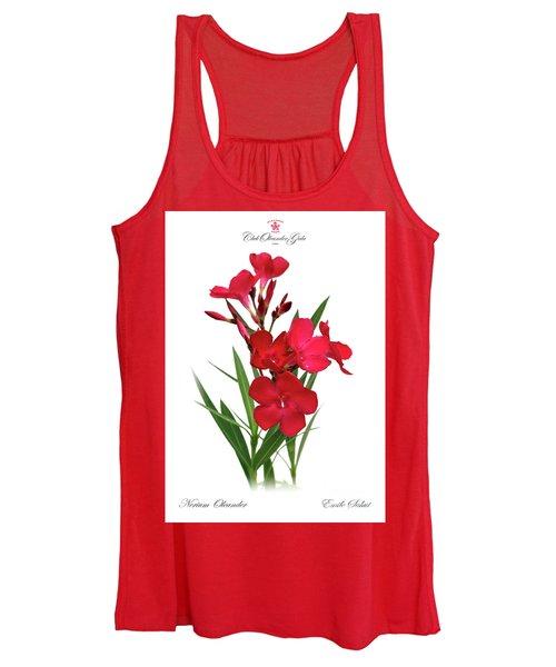 Cog  Nerium Oleander Emile Sahut Women's Tank Top