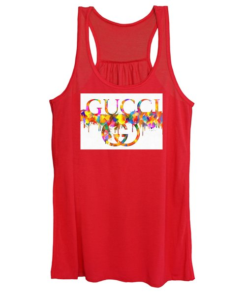 Colorful Gucci Paint Splatter Women's Tank Top