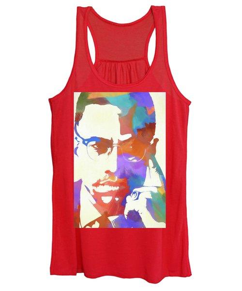 Colorful Malcolm X Women's Tank Top