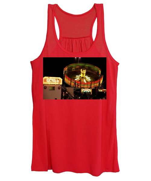 Colorful Round Up Wheel Women's Tank Top