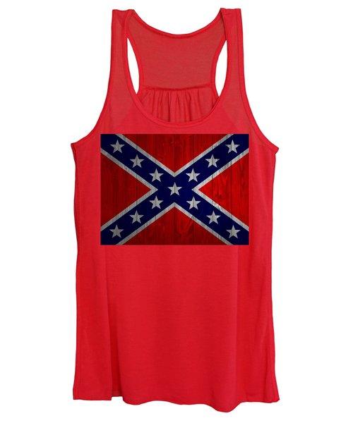 Confederate Flag Barn Door Women's Tank Top