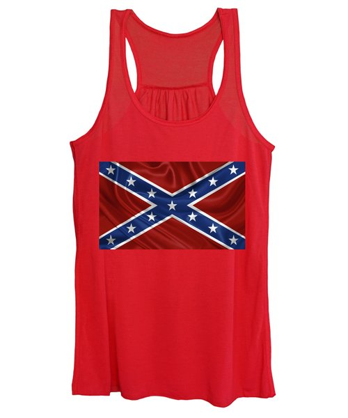 Confederate Flag - Second Confederate Navy Jack And The Battle Flag Of Northern Virginia Women's Tank Top