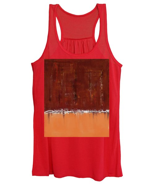 Copper Field Abstract Painting Women's Tank Top