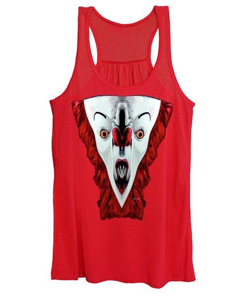 Creepy Clown 01215 Women's Tank Top