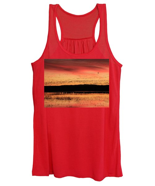 Crimson Sunset At Bosque Women's Tank Top
