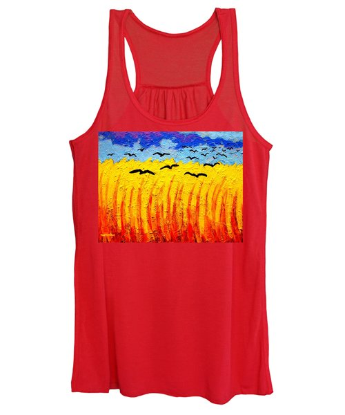 Crows Over Vincent's Field Women's Tank Top